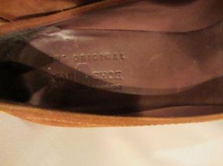 Car Shoe Prada Brown Suede Loafers High Wedge Platform Shoes 38 8 Worn