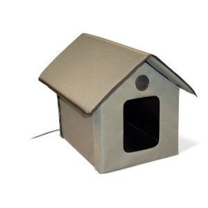Outdoor Heated Cat Pet House Warming Heating Shelter Furniture