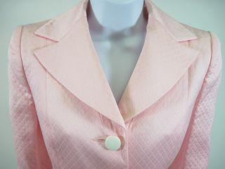 you are bidding on a carven paris pink cotton blazer jacket sz 38 this