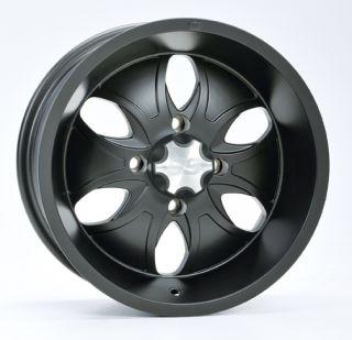 14 Arctic Cat Prowler System 6 Black Chrome ATV Aluminum Wheels New