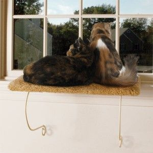 Meow Town Kitty Cat Carpeted Window Padded Shelf Perch