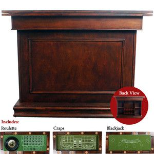 AWESOME ANTIQUE STYLE CASINO GAME BAR TABLE, 3 GAMES,ROULETTE,CRAPS