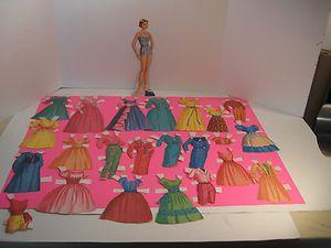OIGINAL 1960 Movie Star Carol Lynley Paper Doll Clothes Set No Folder