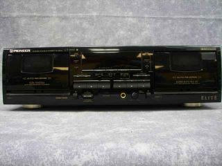 Pioneer Elite Ct W59 Double Dual Cassette Deck Player Dolby