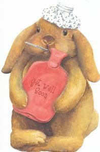 Carol Wilson Get Well Greeting Card Bunny Get Well