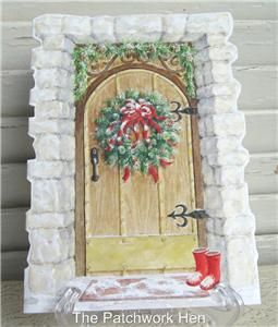 Carol Wilson Embossed Christmas Greeting Card Festive Home Entry