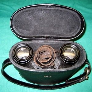 Binoculars Nautical WWII U s Navy 6x30 Leather Case Universal Camera