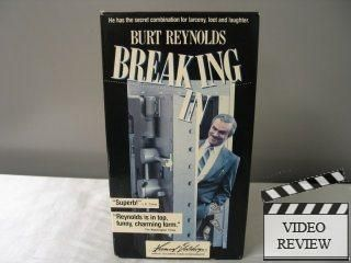 Breaking in VHS 1994 Burt Reynolds Casey Siemaszko 026359038037