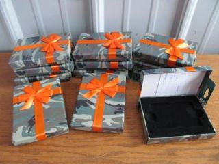 12 Camo Gift Cash Card Boxes Orange Ribbon GM Boxes Only O 63
