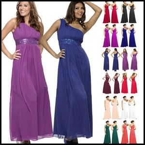 Beaded Bridesmaid Prom Evening Dress Gown Women Party Dress