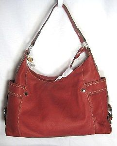 Fossil Red Castille Large Hobo Bag NWT $199