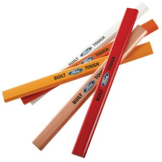 Licensed Multi Color Built Ford Tough 5 Pack Carpenters Pencils