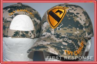 Cavalry The First Team US Army Fort Hood Military ACU Digital Camo Hat