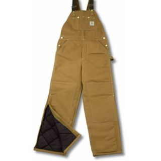 Carhartt Bib Overalls R03 Mens 42x32 Quilted Arctic Lined Duck