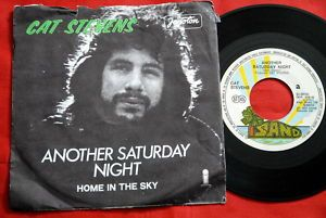 """Cat Stevens Another Saturday Night 1974 Unique EXYU 7""""P"""