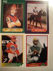 Horse Racing Jockey Cards Lot 4 Marco Castaneda
