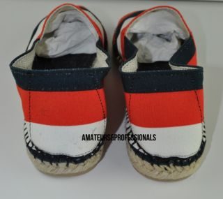 Van Noten Red White Blue Stripe Castaner Espadrille Size 43 UK 9 US 10