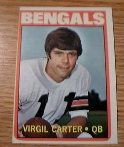 Virgil Carter Cincinnati Bengals 49 1972 Topps Football Set Break 1