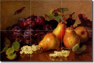 Stannard Pear Fruit Kitchen Ceramic Tile Mural Art