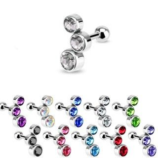 Ear Cartilage Helix Tragus Piercing Jewelry CZ 16 Gauge 16g