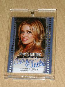 Blue Leaf Pop Century Autograph Carmen Electra Base 5