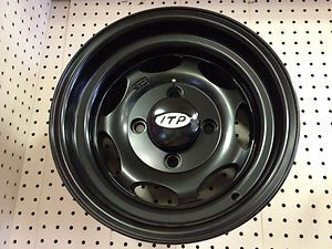 STI ITP Type 4 Black Wheel Kit Arctic Cat 400 450 500 550 650 750 100