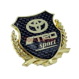 Fiber Badge Emblem Sticker 3D for TRD Motor Sport Camry Carola