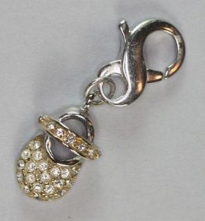 Carolee Sterling and Rhinestone Crystal Baby Shoe Charm