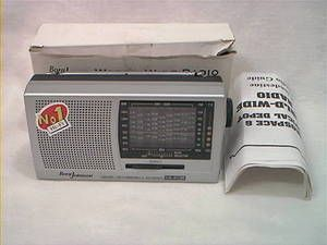 1980S 1990S VINTAGE BORG JOHNSON 12 BAND WORLD TRANSISTOR RADIO MINT