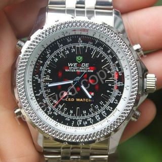 LED 2 Dual Core Diving Chronograph Sport Mens Watch New