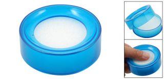 Office Sponge Finger Wet Money Cashier Round Case Blue