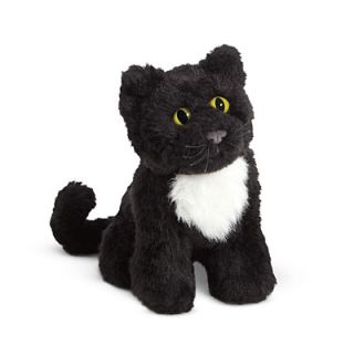 American Girl Carolines Pet Cat, Inkpot for Dolls Black Furry Kitten