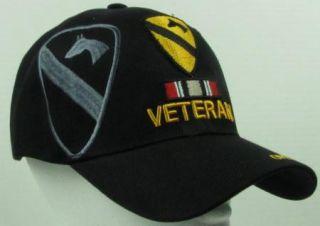 NEW BLACK U.S.ARMY 1ST CAVALRY IRAQI FREEDOM VETERAN BASEBALL CAP/HAT