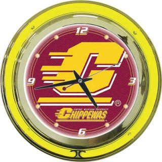 Neon Clock Central Michigan University Chippewas Logo