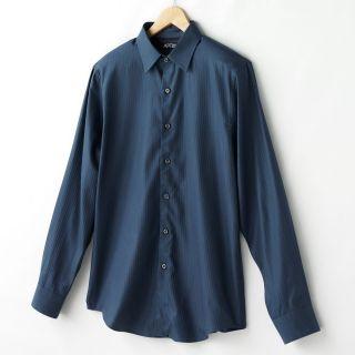 Apt 9 Men Solid Tonal Stripe Casual Dress Shirt $42 NWT