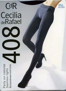 Cecilia de Rafael Miss 60 Denier Seamless Tights Pantyhose Large Black