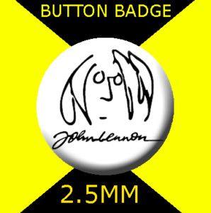 John Lennon Cartoon Logo Button Badge 25mm CD 9