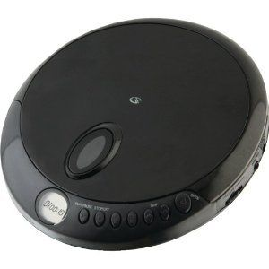 GPX PORTABLE CD PLAYER LCD ANTI SKIP BLACK LCD DISPLAY EARBUDS