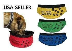 Pet Folding Travel Bowl Water Feeder Portable Food Dish Dog Cat Dish
