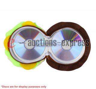 Hamburger CD DVD Carrying Case Bag Wallet Hold 24 Discs US Seller Fast