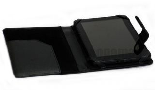 Black Leather Case Cover w/Magnetic Tab for  Kindle Fire