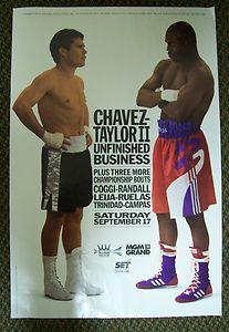 Julio Cesar Chavez Meldrick Taylor II Unfinished Business Original
