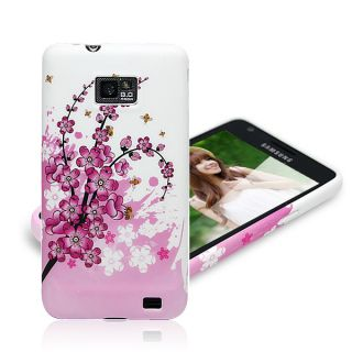 Plum Blossom Pink Color Phone Case Soft Back Cover for Samsung Galaxy