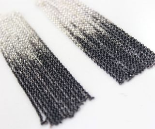 Jewelry Antique Womens Lots Black Silver Chain Tassels Earrings NWT