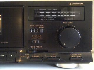 Teac w 420C Rec Stereo Dual Cassette Deck Tape Player