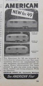 Coach Company Travel Trailers Ad 3 Models Shown Cassopolis MI