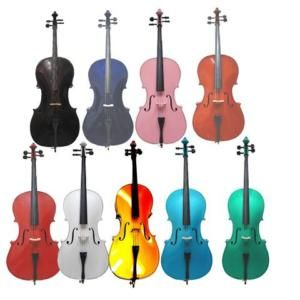 Natural Red Green Gold Black Blue Pink Purple Cello