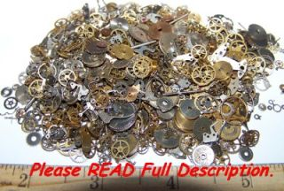 5g Vintage Steampunk Gears Lot Old Pieces Watch Parts Wheels Steam