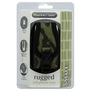 Rugged Camouflage Cell Phone Universal Case for Small Phones Locking