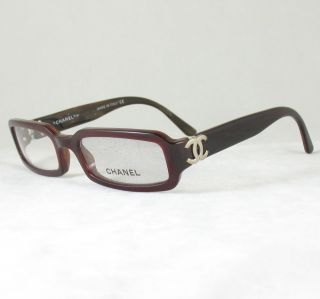 Chanel 3134 Q Eyeglasses Frame Crystal White Leather RX
